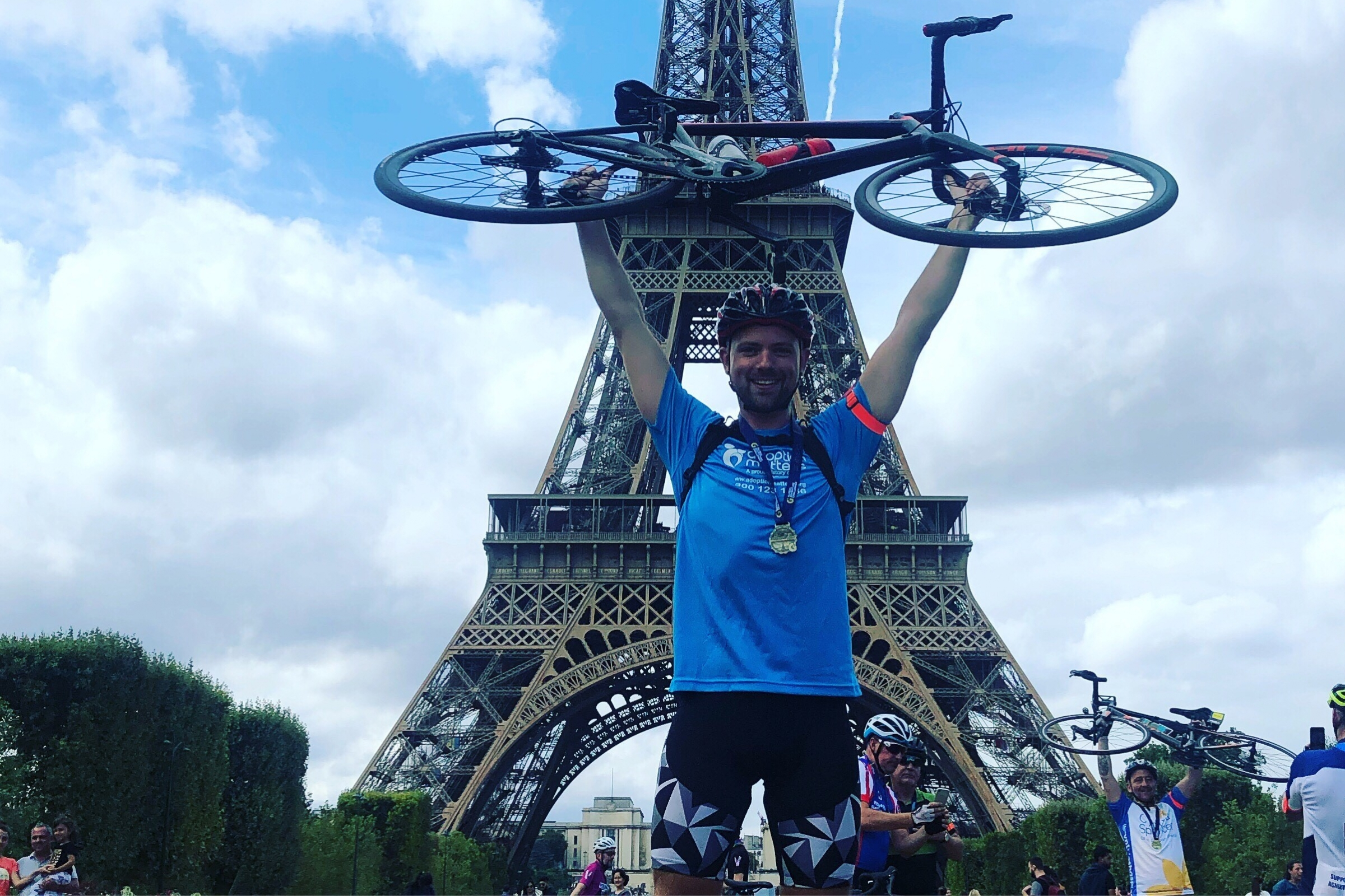 Jamie cycles from London to Paris
