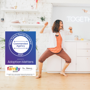Adoption Matters awarded Commended Agency status by national LGBTQ+ Adoption and Fostering Charity